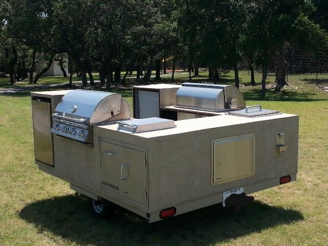 outdoor kitchen equipment on a trailer outdoor cooking