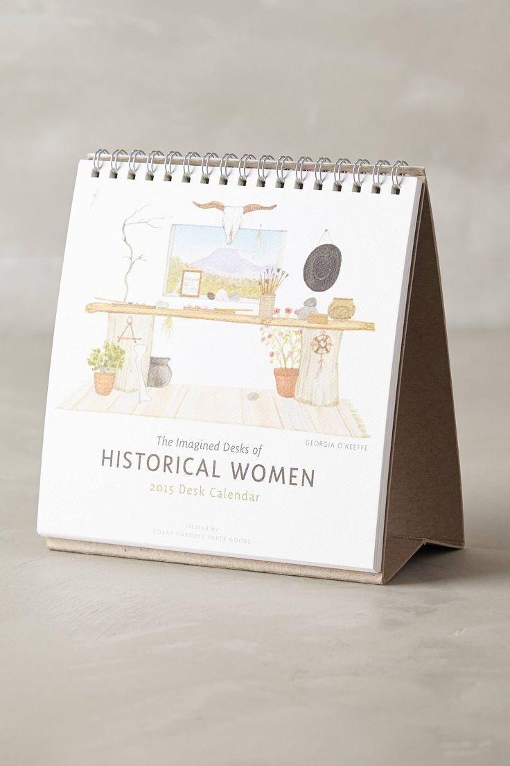 Imagined Desks 2015 Calendar - anthropologie.com
