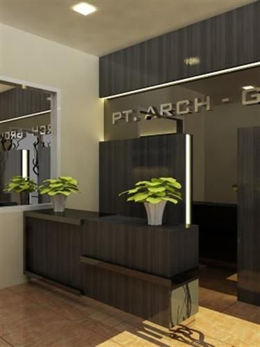 minimalist elegant lobby receptionis office interior design