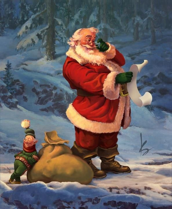 Image result for santa checking his list