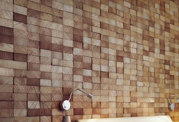 Wood Block Wall Design Architecture Pinterest