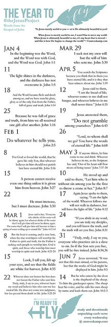Scripture Memorization for the Rest of Us: The Jesus Project #MemoryProject2014 *UPDATED: Printable Bookmark with List of Verses