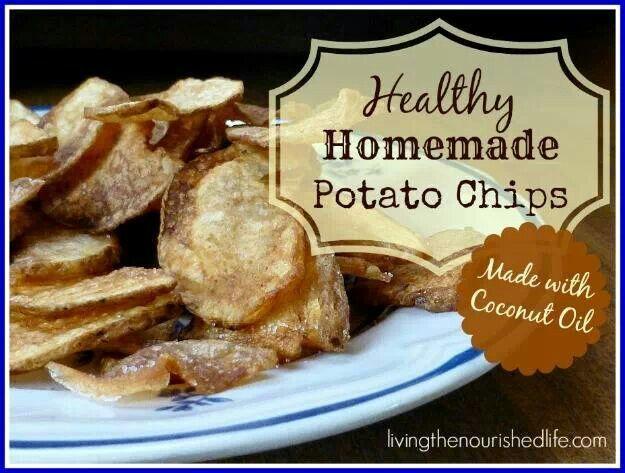 Healthy homemade potato chips | Favorite Recipes | Pinterest
