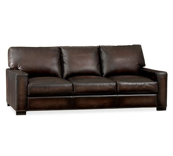 Turner Leather Grand Sofa Pottery Barn Hints Ideas Diys Pin