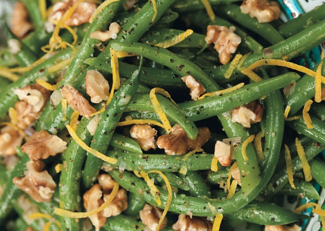 campanelle with walnuts ricotta and lemon green beans and walnuts ...