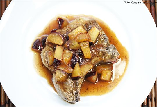 Pan Seared Pork Chops with a Sweet Plum Reduction