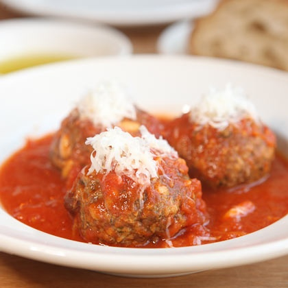Frankie's 570 Spuntino: Meatballs with pine nuts and raisins