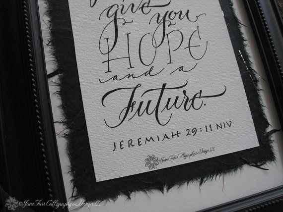 Jeremiah 29 11 Bible Verse In Calligraphy