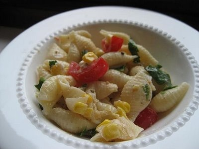 Corn, Tomato and Basil Pasta Salad | Sides, Slaws, and Salads...Oh my ...
