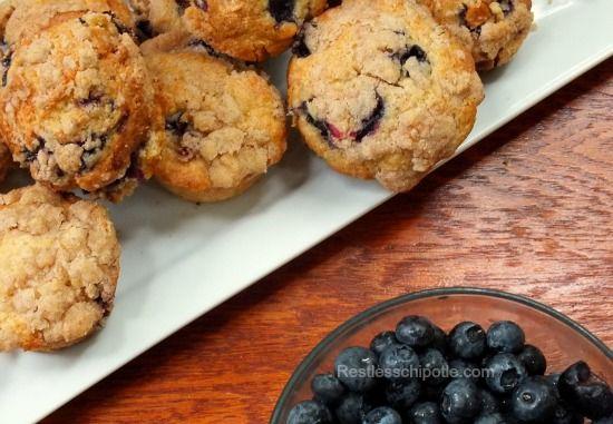 Blueberry White Chocolate Muffins | Recipe