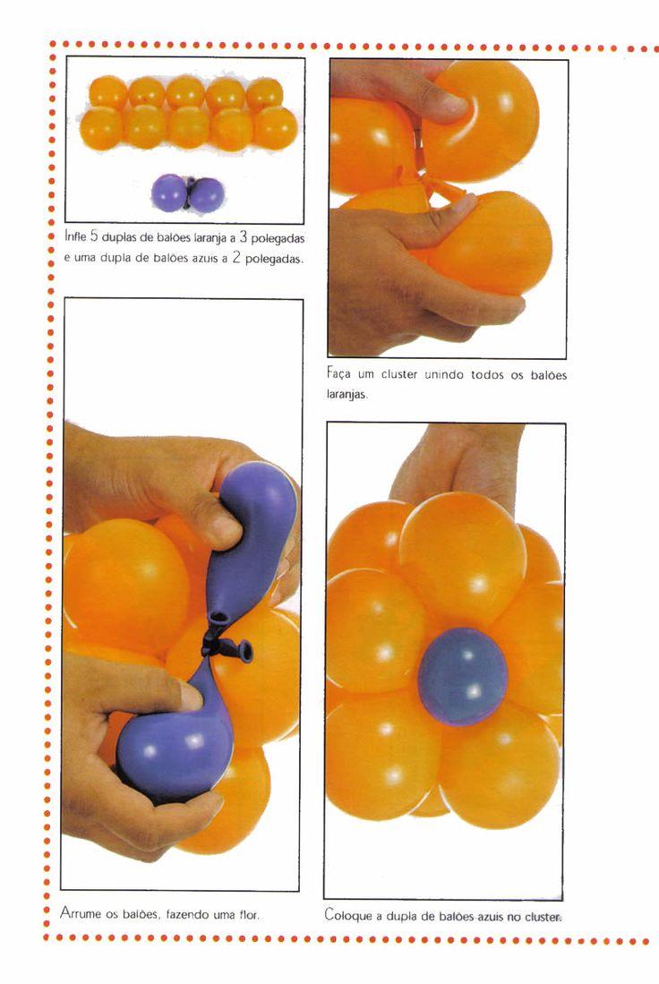 enfeites para jardim passo a passo:Decoração com balões passo a passo