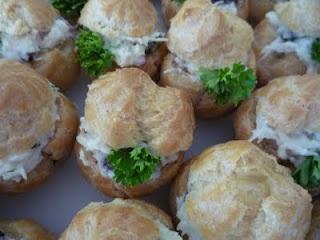 Chicken salad in pastry puff | Cream Puffs | Pinterest
