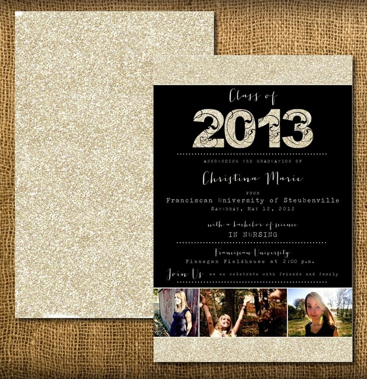 Invitations Graduation with beautiful invitation design