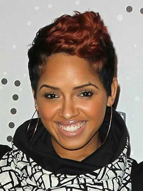 pinterest short black hairstyles : Short Colored Hairstyles For Black Women