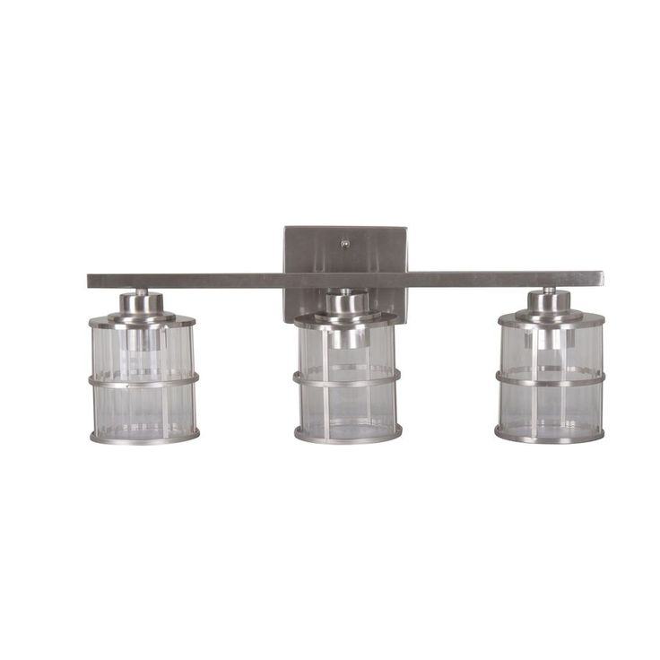allen + roth 3Light Satin Nickel Bathroom Vanity Light at Lowes.com