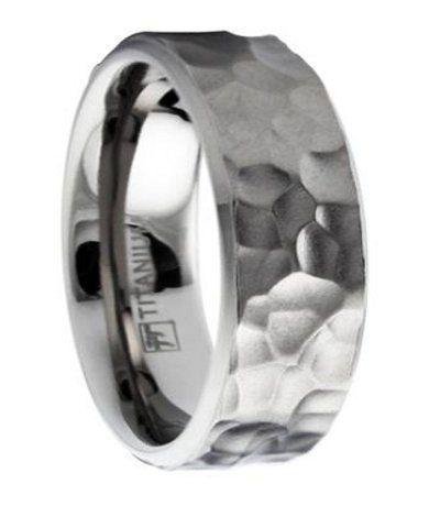 Mens Hammered Titanium Wedding Bands Men 39 S Titanium Wedding Ring
