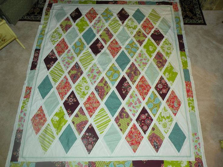 Diamond Pattern For Quilting : In love with this pattern Quilts - Diamonds Pinterest