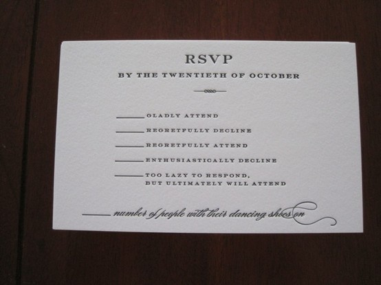 Funny RSVP WEDDING Invitations