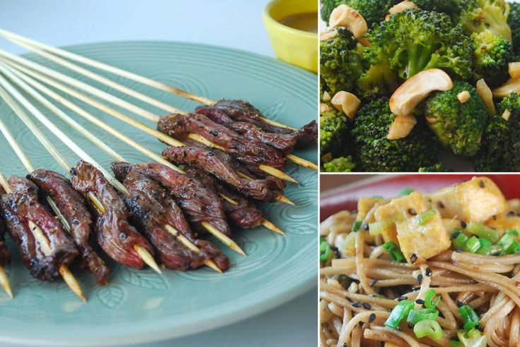 Sesame Soba Noodles with Crispy Tofu Beef Skewers with Peanut Sauce ...