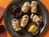 Crispy Phyllo Wrapped Hot Dog Mummies