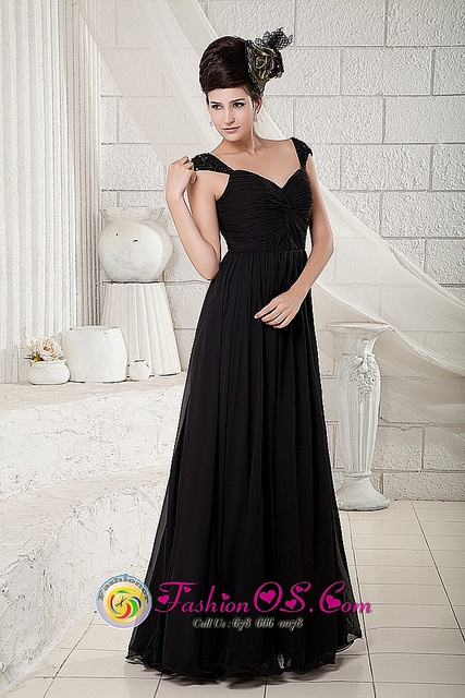 Long Black Wedding And Bridesmaid Dresses Pinterest