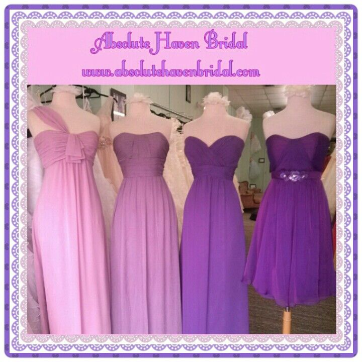Ombre purple bridesmaid dresses beautiful bridesmaid for Purple ombre wedding dress