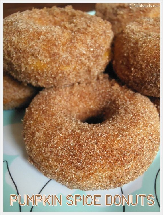 Pumpkin Spice Donuts | YUM! FOOD! :D | Pinterest
