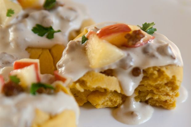 Sweet Potato Biscuits and Apple Sausage Gravy - This sounds good! I ...