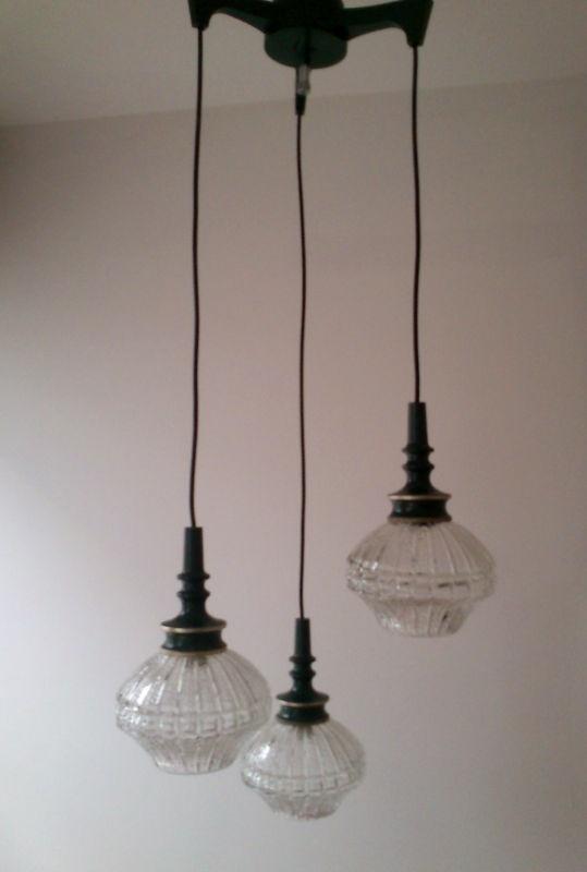 vintage danish cascade 3 tier light pendant lamp fog morup panton ret
