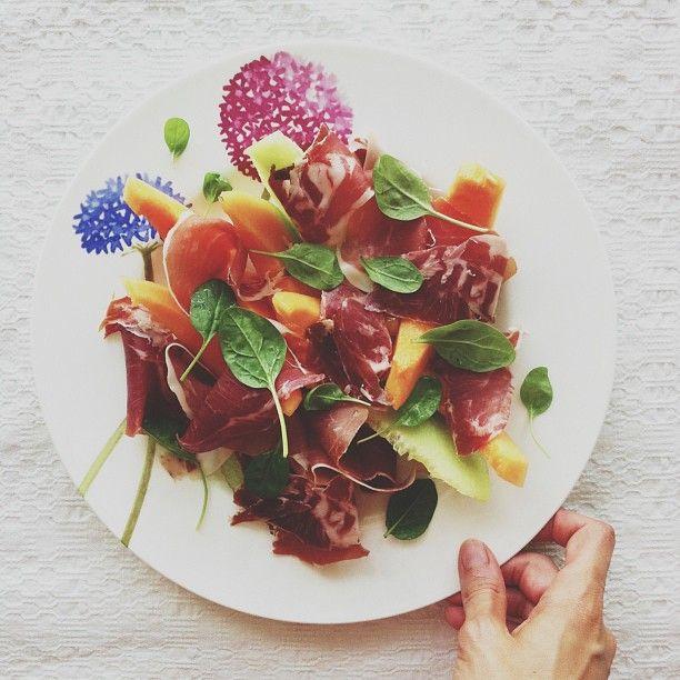 Prosciutto&Melon Salad | inner chef | Pinterest