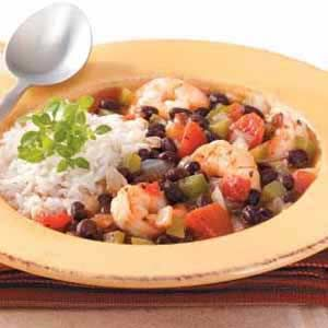 Shrimp 'n' Black Bean Chili Recipe from Taste of Home. Plus links to ...