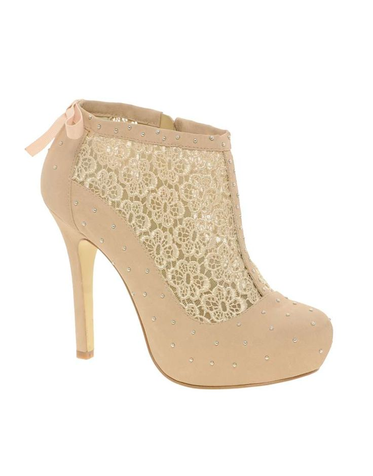 ASOS TRINKET Studded Shoe Boots