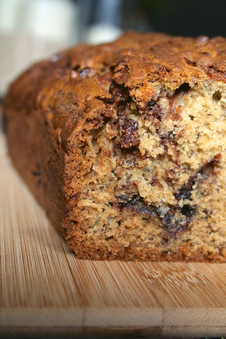 Nutella-Swirled Banana Bread | Bread Recipes | Pinterest