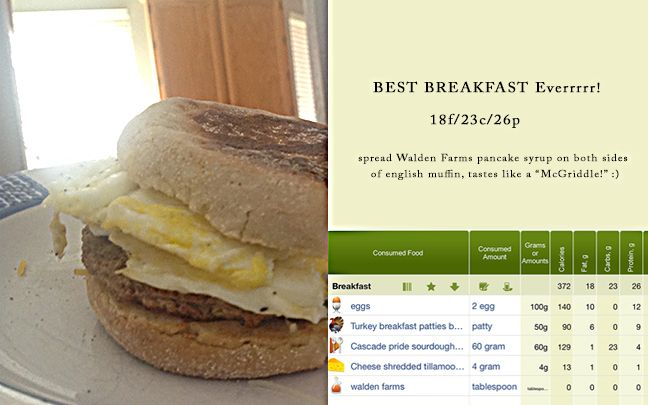 Easy Breakfast (or anytime) Sandwich 18f/23c/26p English Muffin, 2 ...
