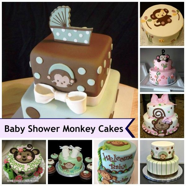 Monkey theme cakes for baby showers cakes pinterest - Baby shower monkey theme cakes ...