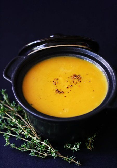 Spicy Pumpkin Soup | A healthier way to eat | Pinterest
