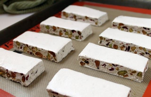 www.pieceofcakeblog.blogspot.com Cranberry-Pistachio Torrone