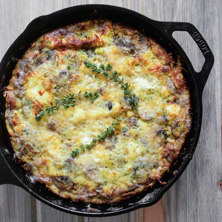 Sausage and Goat Cheese Frittata | www.cookingandbeer.com | Cooking ...