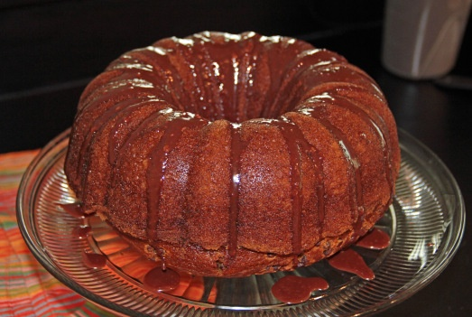 Pumpkin bundt cake with Nutella glaze-has more then this on the ...