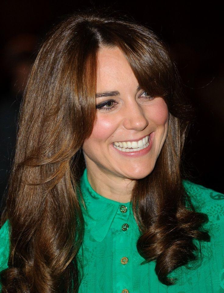 Kate Middleton Long Curls with Bangs