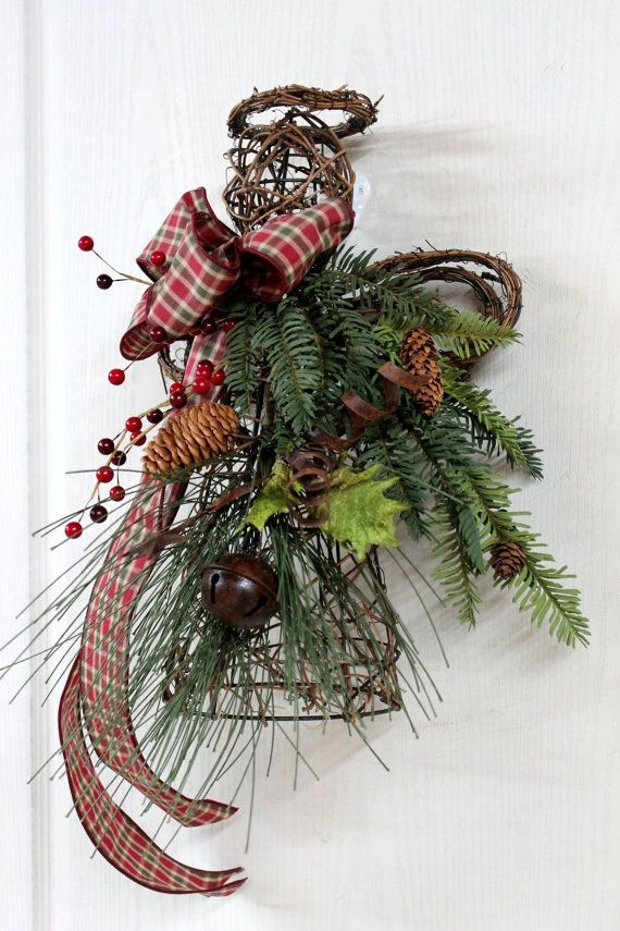 Primitive christmas angel door decor or tree topper for Angel christmas decoration