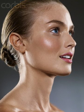 Blond woman with hair pulled back trichophilia pinterest