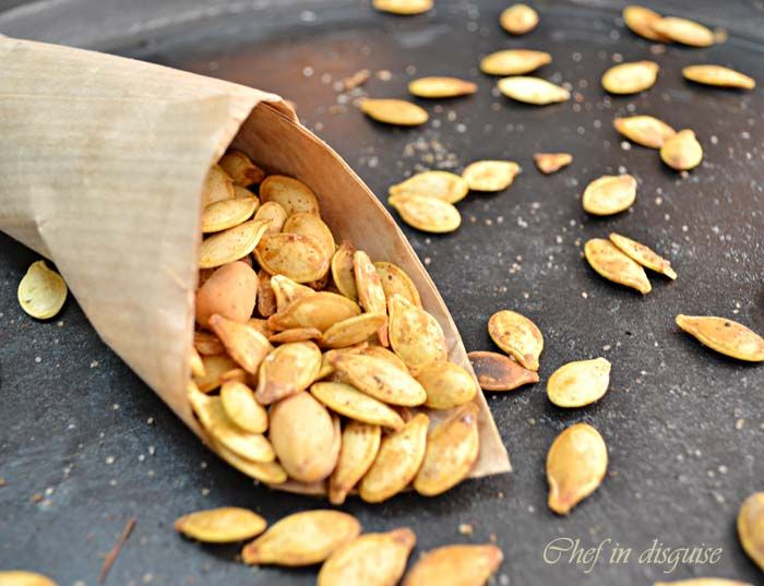 ginger paprika toasted pumpkin seeds | Food and Cooking | Pinterest
