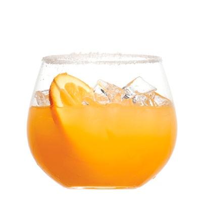 lime juice * 1 splash(es) orange juice * Sugar, for garnish * Orange ...
