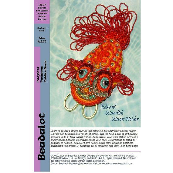 Edward scissorfish bead embroidery pattern