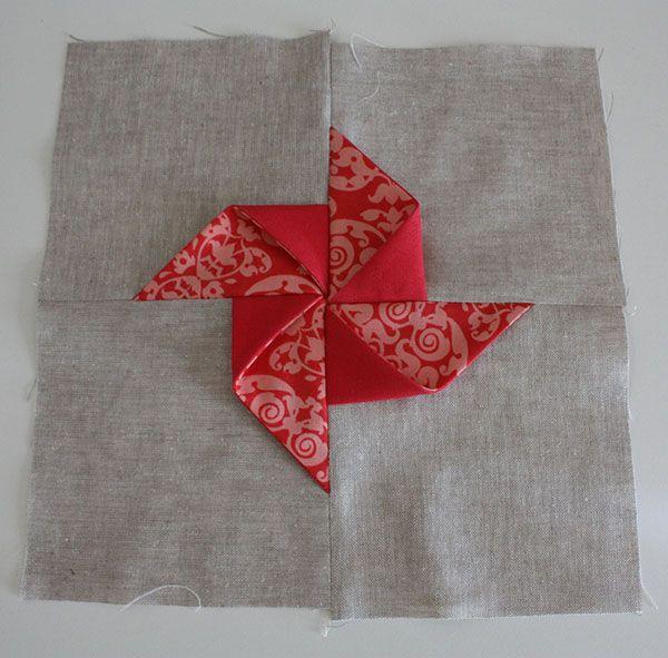 3D pinwheel block tutorial Quilt: Blocks Pinterest
