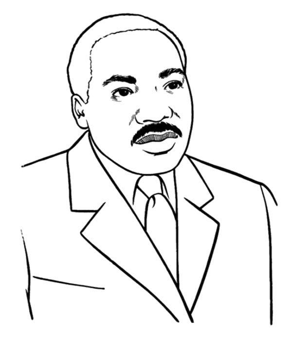 Martin Luther King Coloring Page Teaching Prek Pinterest Dr Martin Luther King Jr Coloring Pages