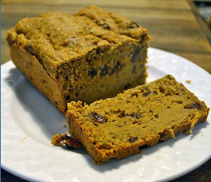 Spiced Carrot Bread with Raisins