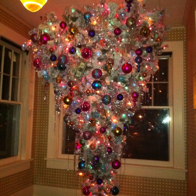 Our upside down christmas tree and so this is - Why upside down christmas tree ...