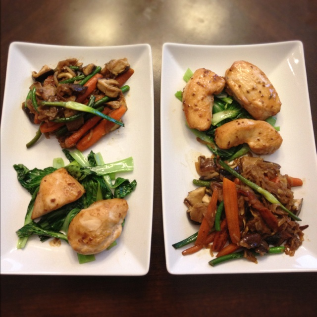 Teriyaki Chicken over Baby Bok Choy w/ Soy Ginger StirFry: Marinate ...